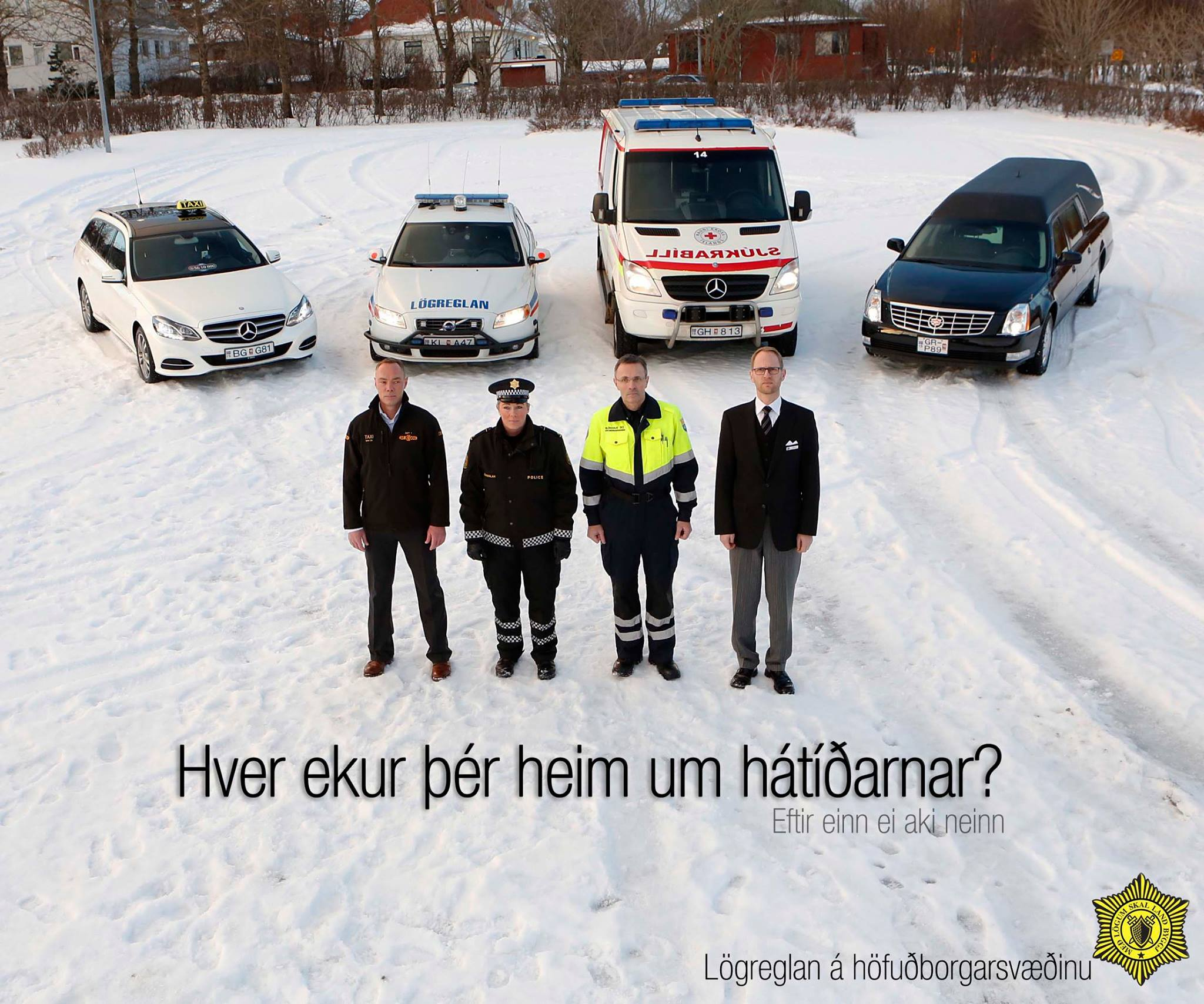 Reykjavik police ads