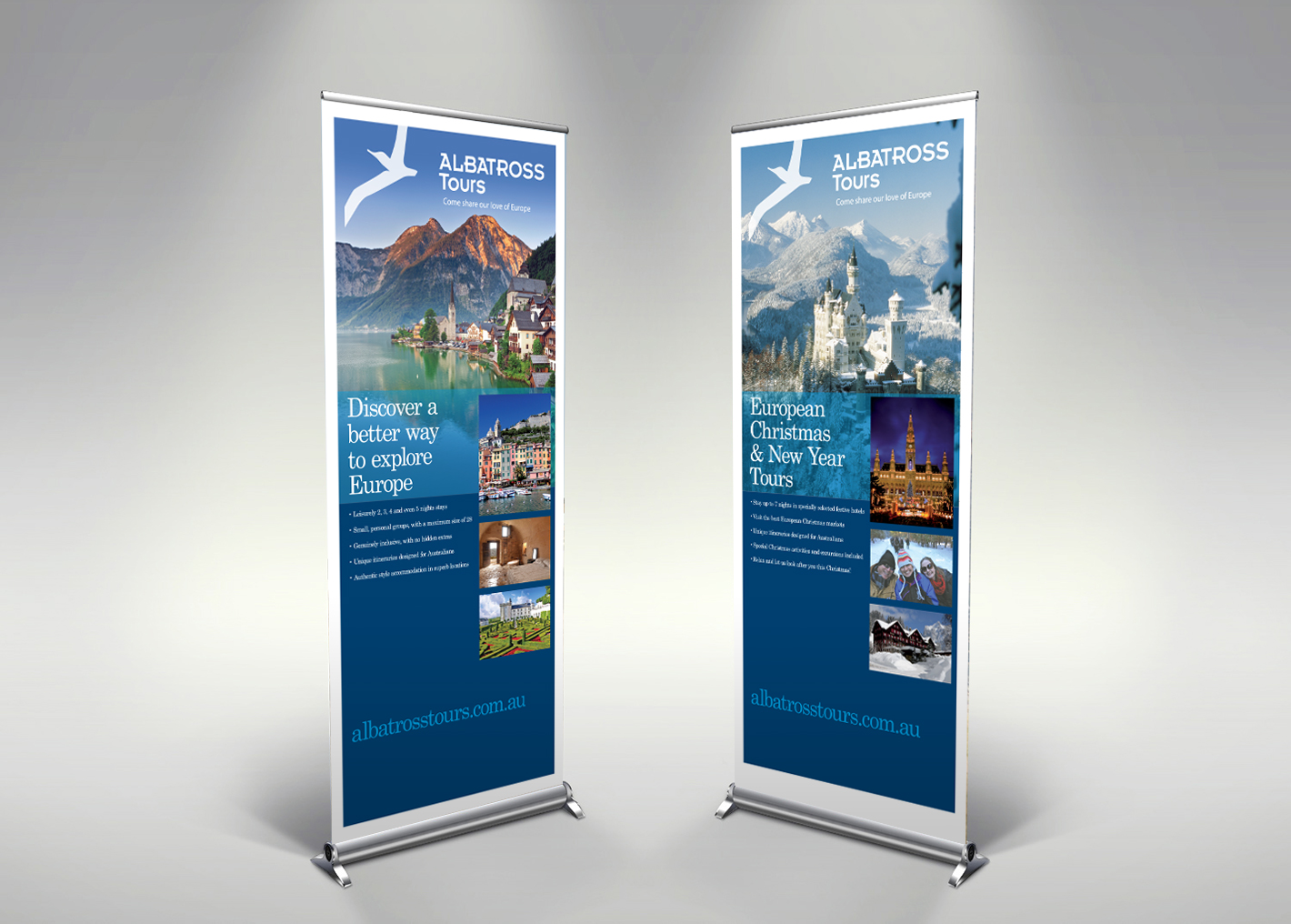 Albatross pull up banners